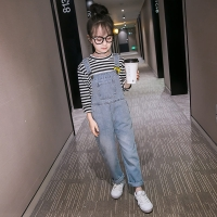 Spring Autumn Kids Girl Jeans Overalls For Teens Denim Rompers Child Denim Jumpsuits Children Jeans Pants for Girls Overalls