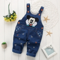 Toddler Boys Girls Jeans Jumpsuit 2019 Autumn Kids Clothes Children Denim Overalls Baby Pants Rompers Salopette Fille Dungarees