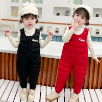 OLEKID 2020 Winter Baby Girl Jumpsuits Thick Warm Down Cotton Baby Boy Overalls 1-5 Years Children Overalls Kids Toddler Pants