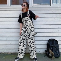 Disney Mickey mouse girl denim overalls cartoon fashion jeans