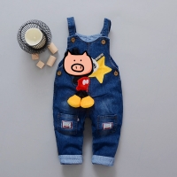 Baby Pants Toddler leisure styls Boys bib pants children Denim Overall Trousers kids jeans for girls