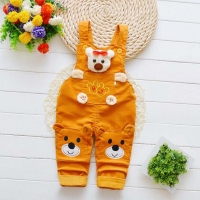Infant clothes New born baby trousers girls cotton cute jeans little kids suspenders denim jeans 0-4T baby girls cartoon pants