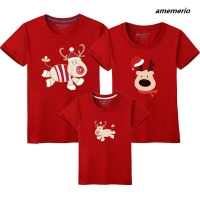 Matching Family Outfits Christmas Father Son Clothes Dad Mom Baby Mother Daughter Short Sleeve Matching Family Look T Shirts