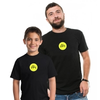 100% cotton new merch A4 round LOGO casual family clothing t shirts tops short sleeve T-shirt children adult мерч a4 tshirts