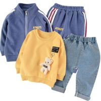 Children Tracksuit Kids Clothing Sets Baby Boys Girls Fashion Sports Suits Hoodies Sweatshirts+Pants Brand Jacket Boy Clothes