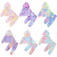 Autumn Newborn Baby Boy Girls Clothes Long Sleeve Tie Dye Print Hoodies+Long Pants Toddler Kids Children Tracksuits Clothing Set