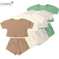 Children's Pajamas Set Baby Boy Girl Clothes Summer Sleepwear Set Kids Cartoon Printed Tops+Shorts Toddler Clothing Sets