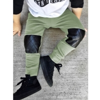 2020 1-4Y Autumn Spring Thicken Baby Boy Clothes Splice New Born Baby Clothes Boys Kids Pants Toddler Casual Children Trousers