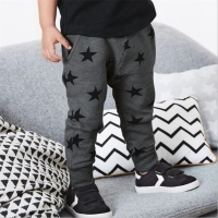 Boys Children Warm Clothing Sweatpants Winter Cotton Cartoon Stars Print Cute Pants for Boys Clothes Baby Kids Boys Trousers