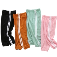 Toddler Kids Pants 2020 Summer Candy Color Harem Pants Boys Cotton Soft Trousers Drawstring Side Stripe Baby Boys Pants