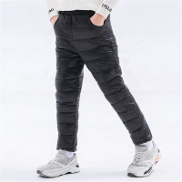 Winter Children Down Cotton Padded Pants Baby Boys Girls Clothing Solid Ski Windproof Warm Trouser Kids Snow Pant Teen Leggings