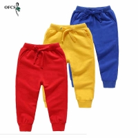 Spring Boys Elastic Waist Pants Soft Sports Pants For Girls Children Sweatpants Kids Trousers Baby Top-Quality Clothing 1-12Year