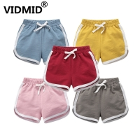 VIDMID boy girls cotton shorts clothes kids striped shorts trousers cartoon children's clothing trousers boy girl shorts 7042 05