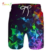Space Galaxy 3D Print Quick Drying Toddler Shorts for Boys Elastic Waist Kids Sports Swim Shorts Pants Children Clothing