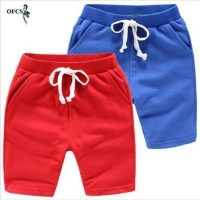 Youth fashion pants elastic sportswear cool summer beach boys candy color pants retail children's clothing 1.5-10 t