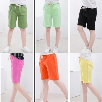 summer children's shorts baby boys Girls solid Candy Color elastic waist pants kids Beach shorts for 3-11Y Boys Shorts