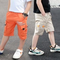 EACHIN Baby Boys Shorts Casual Solid Colors Elastic Waist Boy Pants Summer Calf Length Kids Trousers Soft Pants Children Clothes
