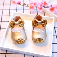 POSH DREAM Gold Sequins Princess Baby Boy Shoes for 1 Year Old Factory Direct Selling Baby Shoes Baby Toddler Shoes for Girls