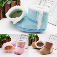 DOGEEK Winter Baby Boys Girls Shoes First Walker Winter Infants Warm Shoes Faux Fur Girls Baby Booties Leather Boy Baby Boots
