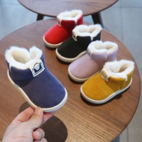 Winter Baby Girls Boys Boots Infant Toddler Snow Boots Warm Plush Outdoor Boots Soft Bottom Non-slip Kids Cotton Shoes