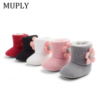 2020 new arrival Winter Super keep Warm First Walkers Baby Girl Boy floral Crib Shoes Newborn Prewalker Non-slip Soft Sole Boots