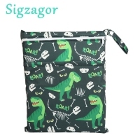 [Sigzagor]1 Wet Dry Bag Diaper Bag Nappy Bag Insert Two Zippered Baby Waterproof Reusable Skull Jack Skeleton 100 Designs