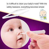Baby Safe Cleaning Tweezers New Baby Care Infant Ear Forceps Plastic Special Design Newborn Digging Nose Clip Plier Safety