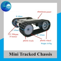 mini TP101 Smart Tank Chassis Tracked Chassis Remote Control Platform with Dual DC Motor for Arduino Car DIY Set