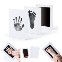 Newborn Baby Handprint Footprint Photo Frame Kit Non-Toxic Clean Touch Ink Pad Infant Clay