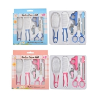 6 Pcs Newborn Baby Nail Hair Daily Care Kit Infant Kids Grooming Brush Comb and Manicure Set