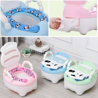 Portable Baby Pot Cute Toilet Seat Potty Toilet Bowl Training Pan Children's pot Kids Bedpan Comfortable Backrest Animal Kid Pot