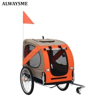 ALWAYSME 2 Wheels Bike Pet Dog Trailer Stroller Push Carts Trolley,Fits Less Than 35KGS Pet Dog