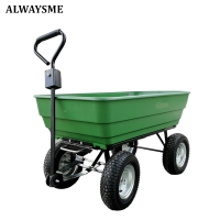 ALWAYSME Multipurpurse Utility Wagon Yard Dump Cart Shopping TrolleyCart Hand Cart HandTruck For Shopping,Cargo,Pet,Kids,Baby