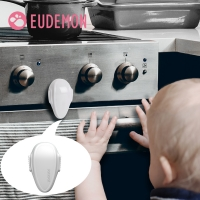 EUDEMON 2pcs Child Lock Kitchen Protection Of Locking Oven Doors For Children Safety Kids Safety Plastic Protection Safety Lock