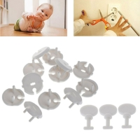 12 Pcs French Standard Power Socket Outlet Cover with 3 Pcs Key Baby Child Safety Protector Kit