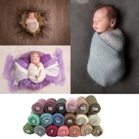 Knit Stretch Wraps Swaddle for Newborn Photography Props Baby Kids Wrap Receiving Blankets Cloth Accessories for Photo shooting