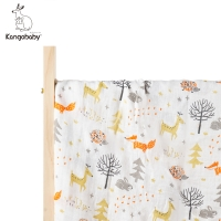 Kangobaby Baby Muslin Swaddle Blankets Baby Bath Towel 70%bamboo +30% cotton Newborn Baby Bath Towel Swaddle Blankets Baby Wrap