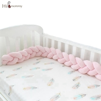 3M/2M Baby Bumper Bed Braid Knot Pillow Bebe Crib Protector Cot Bumper Room Decor Cushion Bumper For Infant Crib Nordic Knot