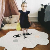 Baby Blanket Nordic Style Cartoon Cloud Floor Mat Baby Crawling Pad Cotton Kids Boys Girls Padded Play Mats 120*100cm