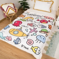 2020 Winter Home Baby Quilt Warm Blankets Beds Soft Children Outdoor Camping Quilt Cartoon Kids Household Bedding PlushBedspread