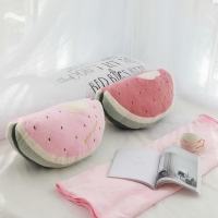 Cute Girl Heart Watermelon Pillow Cushion Two-in-one Pillow Blanket Air Conditioning Blanket Pillow Quilt Children Small Blanket