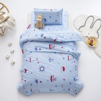 3 Pcs 100% Cotton Duvet Cover Pillow Case Bed Sheet Children's Bedding Set Baby Bedding Set for Newborns Cartoon Duvet Covers