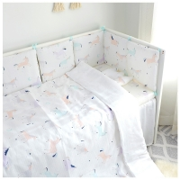 Baby Crib Quilt Cover Children Quilt Cover Ins New Cotton Kindergarten Gauze Baby Newborn Bedding Duvet Cover