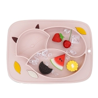 Feeding Suction Plates Baby Food Place Mat Kids Silicone Tray Vajillas Plato Infant Dishes Pratos Child Eating Bowl Infantil