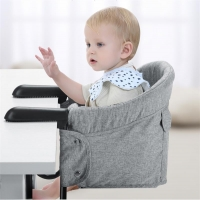 Hook On High Chair Portable Baby Highchair Foldable Travel Highchair Clips to Dining Table,Kids Feeding Chair with Safety Belt