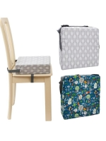 Portable Kids Baby High Chair Pad Booster Travel Dining Room Adjustable Detachable Washable Thicken Sponge Seat Cushion