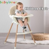 Babyinner 56cm Baby Dining Chair Foldable Highchair Booster Seats Portable Kids Table and Chair Multifunctional Babys Products