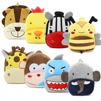 Cute animals series cartoon kids plush backpack toy mini school bag Children's gifts kindergarten boy girl student baby bags