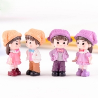 1:12 Scale Doll House Accessories Resin Lover Doll Dollhouse Decoration Gift Toys for Children