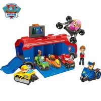 Paw Patrol Mission Cruiser Music Rescue Base Bus Toy Set Dogs Ryder Anime Action Figures Model Car Toys Kids Birthday Best Gift